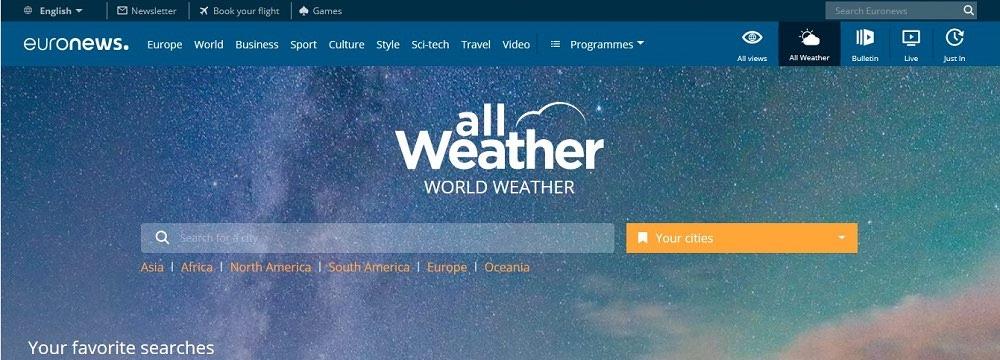 هواشناسی Euronews