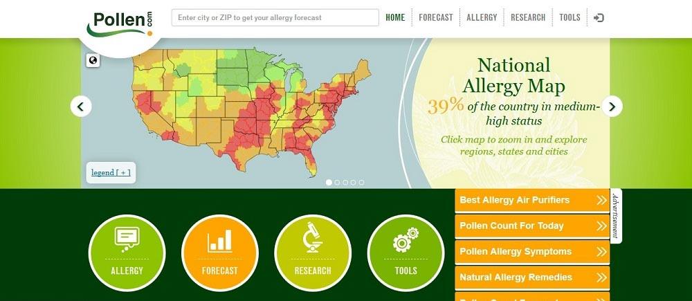 هواشناسی pollen